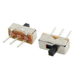 Interruttori a scorrimento online-50 pz 2 posizioni SPDT 1P2T 3 Pin PCB Panel Mini Vertical Slide Switch