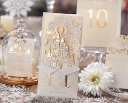 Wholesale Wedding Laser Card - Wedding Invitations Cards Personalized Bride Laser Cut Wedding Invitations Cards New Design Printable with Envelope and Seal