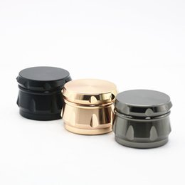 New Grinders Wholesaler 63 MM Grinder Drum Style Meatal Tobacco Crusher Grinders Con 4 Parti Fumo Cracker Fit Dry Herb Spedizione Gratuita supplier herbs wholesalers da herbs wholesalers fornitori