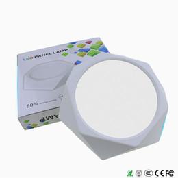 6W 12W 18W 24W Diamond Square Panel LED SPOT Luz montada en superficie Downlight lámpara de techo AC85-265V envío gratis desde fabricantes