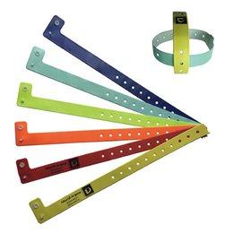 Wholesale Wholesale Wristbands For Events - Wholesale-100pcs L shape pvc material vinyl wristband bracelet, wristbands for events, festival wristbands