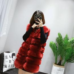 Wholesale Brown Fur Vest Women Sleeveless - Wholesale-Fenghua 9 Colors Faux Fur Coat Winter Women 2017 Fashion Casual Sleeveless Faux Fox Fur Vest Winter Coat Women casaco feminino
