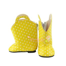 Wholesale Baby Shoes Toys - Doll accessories ,Yellow boots shoes fit 43cm Baby Born zapf, Children best Birthday Gift