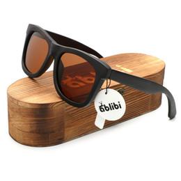 Wholesale Wooden Craft Boxes - Ablibi Men's Wood Sunglasses Polarised Vintage Wooden Craft Polarized Designer Sun Glasses for Women Eyewear in Wood Box