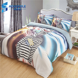 Argentina Cartoon Zebra Printed Kids Dormitorio Ropa de cama Cómodo Anti-ácaro Ropa de cama Reino Unido US Queen Adolescentes Shams Ropa de cama Funda nórdica Conjunto cheap zebra print bedding sets queen Suministro