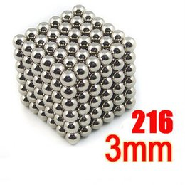 Wholesale puzzle bead - 216 pcs 3mm neo cube magic neodymium beads magnet cube puzzle magnetic balls decompression Neokub toy birthday present for kids