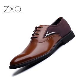 Plus Size 38-48 Scarpe da uomo in pelle scarpe a punta Business Formal uomo scarpe da ufficio Lace Up nero marrone Oxford per supplier plus size black leather lace dress da più il vestito dal pizzo di cuoio di formato fornitori