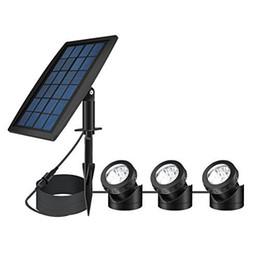 Lumière solaire actionnée solaire de projecteur de sécurité extérieure de lumière de nuit de projecteur de paysage de LED, angle réglable d'éclairage (paquet de 3) ? partir de fabricateur