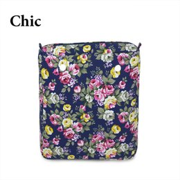 Wholesale Camel Cartoon - New Colorful Cartoon floral Insert Lining for O CHIC OCHIC Canvas Waterproof Inner Pocket for Obag women handbag