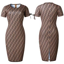 2018 falda apretada de la mujer de alta calidad nueva impresión del número de flujo de las mujeres conmutan las mujeres vestidos casuales desde fabricantes