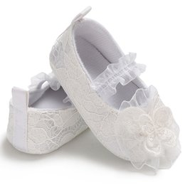 02ab98bd35d6 lace ballerina shoes Promo Codes - Baby Girl Newborn Shoes Spring Summer  Sweet Very Light Mary