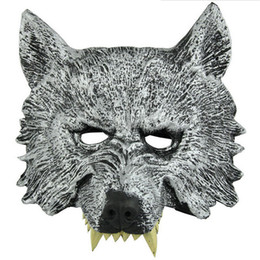 face mask animal for kid Coupons - Fun Halloween Masquerade Party Masks Animal Full Face Wolf Mask for Kids Adult Birthday Gift