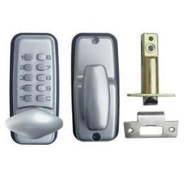 Wholesale Door Password - New Mechanical Password Door Lock Zinc Alloy Silvery Mini Digital Code Lock Combination Lock Marine Waterproof Locks