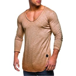 2020 v шеи плотные рубашки мужчины Plus size Running T-Shirt Men Autumn Long Sleeve V-Neck Fitness Tops Slim Tights Gym Clothes Streetwear Outdoor Workout Shirts скидка v шеи плотные рубашки мужчины