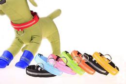 2019 guinzagli collari di cani svegli Carino LED Dog Collare Incandescente USB Ricaricabile Nottilucenti Cintura Pet Notte Sicurezza Lampeggiante Animali Guinzagli Cani Accessorio 7 Colori guinzagli collari di cani svegli economici