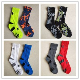 Wholesale Hip Hop Football - New Brand Socks Adults and Children Under Breathable Long Cotton Socks Aromour Basketball Football Skateboard Hip-hop Sports Stockings