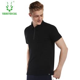 Мужские рубашки поло полиэстера онлайн- POLO High Quality Men Top Polo Shirt Thin Summer Clothes Sportswear Dry Fit Polyester Golf TShirt Short Plus M-XXXL 2018