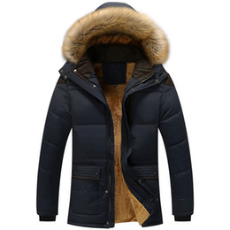 719f164348bd5 Plus Size 5XL Men Warm Winter Coat Varsity Thick Fleece Khaki Parka Casual  Hooded Multi-pocket Men Coat Jacket Black