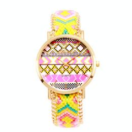 Mode montres Femmes style ethnique Bracelet tressé bracelet modèle montres à quartz Robe décontractée montre Relogio Masculino Horloge cadeau nouveau ? partir de fabricateur