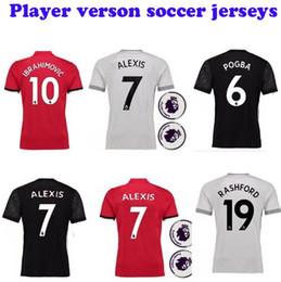 Wholesale Red Stores - Aaron store Fastest Shipment to UK buyers!Man Player version Premier league u Football united Jerseys 2018 Alexis Sanchez utd shirts