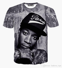 Wholesale Punk Clothing Women Xl - men women hip hop rock singer punk 2018 3d t shirt Wiz Khalifa 2pac t shirt funny casual tee shirts summer top clothes