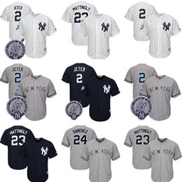 Wholesale robinson black - #2 23 Don Mattingly 24 Gary Sanchez 27 99 Aaron Judge York Yankees stitched Jersey