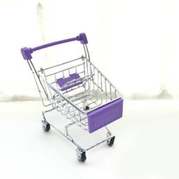 Wholesale mini shopping carts wholesale - Super Mini Supermarket Handcart Trolley Shopping Utility Cart Phone Holder Office Desk Storage Toy Cart Baby Toy