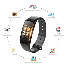 rastreador de celular android Desconto Smartwatch android rastreador De Fitness À Prova D 'Água Inteligente Pulseira C1s com Monitor de Pressão Arterial Pulseira Para apple telefone