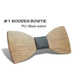 19bb1dbafa8a 2018 New Design Pajaritas Handmade Annatto Hardwood Mens Wooden Bow Tiess  Gravatas Corbatas Business Party Ties For Men Wood Ties