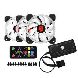 Cpu fan kühler led online-Kühlerlüfter Computer PC Doppelring 366-Modi 10 Stufen-Einstellgeschwindigkeit RGB-LED 120 mm-Lüfter für CPU Hochleistungsluftstrom