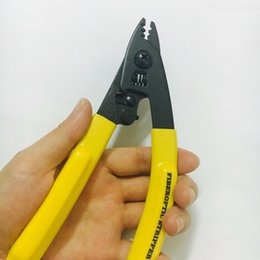wire strip tool Coupons - Free shpping CFS-3 Three-port Fiber Optical Stripper Pliers Wire strippers FTTH Tools Optical Fiber Stripping Pliers