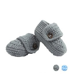 Wholesale Knitting Booties Infants - children footwear Booties shoes for girls kids First shoes slippers Crib Crochet Casual Baby Handmade Knit Sock Infant