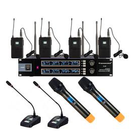 2019 konferenzen mikrofon Das maßgeschneiderte Meeting-Konferenz-Stadium verwendet das UHF 8CH-Mikrofon für drahtlose Mikrofone mit tragbaren Desktop-Schwanenhals-Krawattenclips günstig konferenzen mikrofon