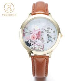 ef34e0d3da1 Miss keke3d argila bonito mini mundo rosa relógio de ouro strass relógios  das senhoras das mulheres de couro de quartzo relógios de pulso001 à venda  ...