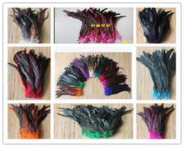 wholesale rooster feathers natural UK - Free shipping Wholesale 1000 pcs Pretty Natural Rooster Feathers 12-14 inches   30-35 cm Wedding decoration diy Home decoration