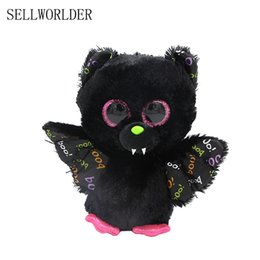 "Wholesale Plush Bats - SELLWORLDER WILD ANIMALS Big Eyes 6"" 15cm Hip hop Graffiti Bat Cute Animal Stuffed Toys"