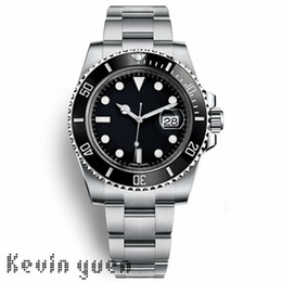 Wholesale Mens Black Sport Watches - Luxury Watch Brand Logo Automatic AAA Watch Stainless Steels Silver Strap Blue Black Dial Mens Sport Watches Orologio Di Lusso Wristwatch