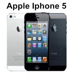Wholesale White I5 - Refurbished Original Unlock iphone Apple 5 i5 IOS Smart Phone 4.0Inch 32G ROM Unlocked Cell Phones