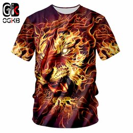 lion king t shirt Coupons - OGKB Tee Shirt Homme Fashion O Neck 3D T Shirts Printed Lion King Hip Hop 6XL Habiliment Homme Spring Tee Shirt Whosale
