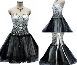 sequin tube Coupons - High-quality Free Shipping New Black Prom Gowns Tube Top Halter Strap Short Tulle Party Cocktail Dresses HY0288