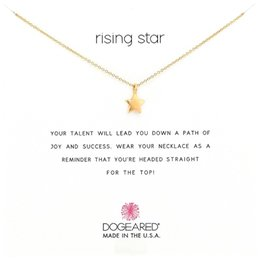 Wholesale Rose Gold Star Necklace - Dogeared Choker Necklaces With Card Gold Silver Star Pendant Necklace For Fashion women Jewelry RISING STAR