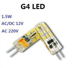 2019 azzurro principale riflettore chip LED G4 12V 1.5W Universale AC DC 12V 220v LED Bead Base Bi Pin Led Perline di cristallo Sorgente di luce G4 Light Beads