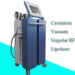 Wholesale home facial machines - lipo laser cavitation machine rf radio frequency skin tightening home use rf facial vacuum 5 in 1 machines