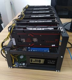 Wholesale Steel Stocks - steel bitcoin miner case mining frame mining rig open Air support 6 -8 GPU for BTC LTC ETH Ethereum