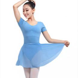 1e81f5f913d15 Backless short Sleeve Spandex Cotton Ballet Leotards For Women Ballet  Dancewear Adult Dance Practice Clothes Gymnastics Leotard