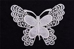 Patch de renda preta on-line-100 pçs / lote borboleta remendos Bordados Venise Veneza borboleta Motivo Sew Lace Applique Remendo Artesanato preto e branco