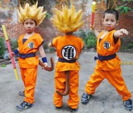 modelo de ropa interior rosa Rebajas Envío gratis calidad superior niños Dragon Ball Z Son Goku traje de Cosplay Halloeen ropa