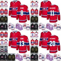 2ca50f650 2019 Montreal Canadiens mens womens youth 8 Jordie Benn 11 Brendan  Gallagher 13 Max Domi 20 Nicolas Deslauriers Hockey Jerseys Stitched