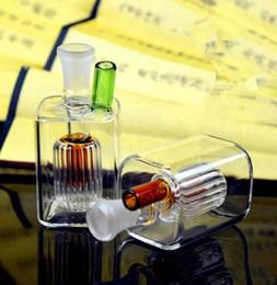 Мини-квадратные стеклянные бутылки онлайн-Мини-квадрат стеклянная стеклянная бутылка воды, Оптовая бонги масляная горелка трубы водопровод стеклянные трубы нефтяные вышки курение Бесплатная доставка
