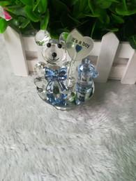 regalos de bodas de cristal Rebajas K5 Crystal Bear Pezón Bautismo Baby Shower Recuerdos Fiesta Bautizo Regalo Regalo Favores y regalos para invitados